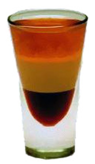 Shooter (drink) - A B-52 shooter served in a shot glass