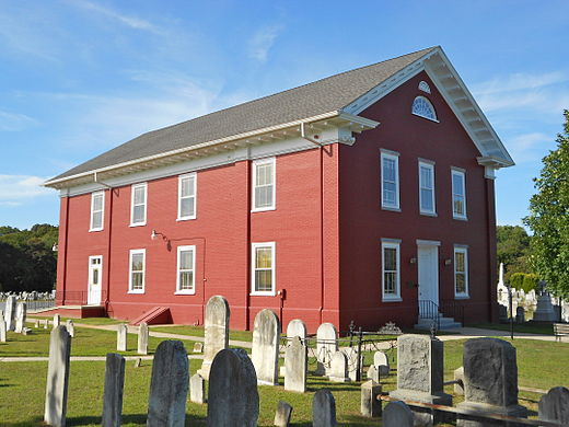 Cold Spring Presbyterian Church near Cape May, New Jersey, rebuilt 1823 Cold Spring Presby from SE.JPG