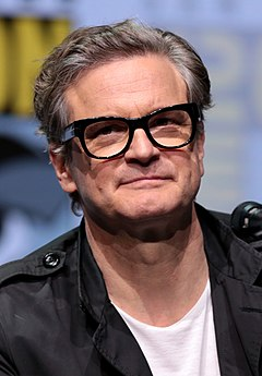 Colin Firth won for his portrayal of King George VI in The King's Speech (2010). Colin Firth by Gage Skidmore 2.jpg