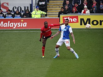 Colin Kazim-Richards - Kazim-Richards (right) playing for Blackburn Rovers against Cardiff City in 2013