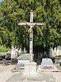 Collandres-Quincarnon (Eure, Fr) croix de cimetière de Quincarnon.JPG