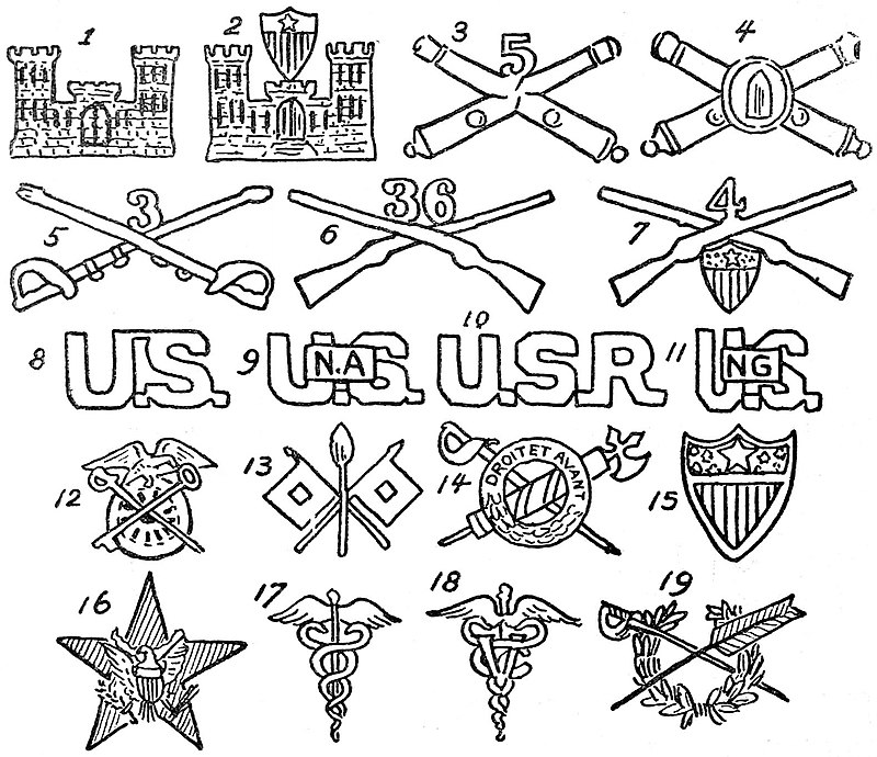 Collier S New Encyclopedia 1921 Military Insignia