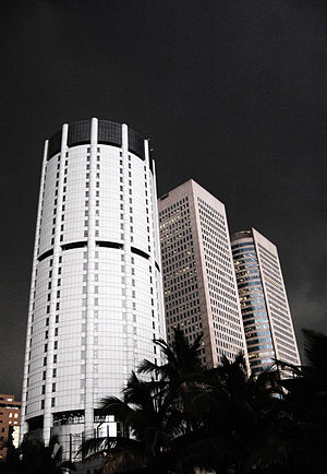 Bank of Ceylon - The Cylindrical BOC tower.