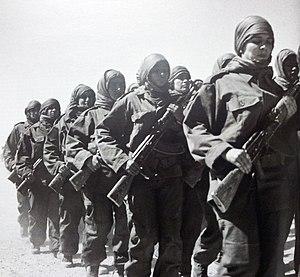 Combattantes sahraouies du Front Polisario
