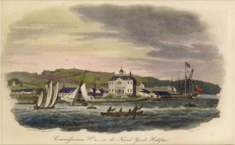 Royal Naval Dockyard, Halifax - View of Halifax Naval Yard, c. 1804
