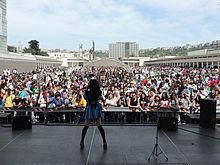 Eriko, cantante dei K-ble Jungle, in concerto all'edizione 2012