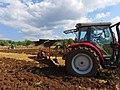 Concours de labour de Boissia - Tracteur Massey relevant après labour (juil 2018).jpg