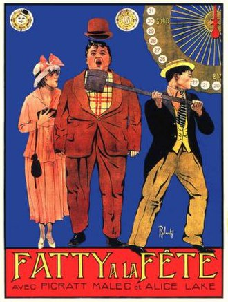 Coney Island (1917 film) - French theatrical poster to Coney Island