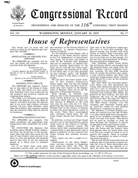 File:Congressional Record Volume 165, Issue 017, 2019-01-28.pdf