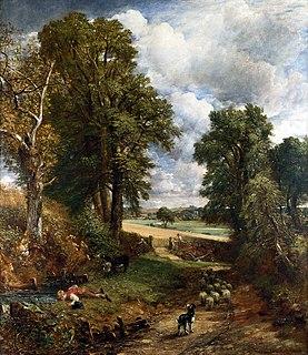 <i>The Cornfield</i> painting by John Constable