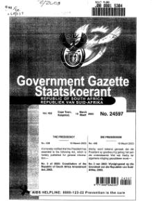 Constitution of the Republic of South Africa Amendment Act 2003 from Government Gazette.djvu