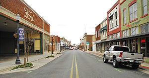English: Conway's historic downtown