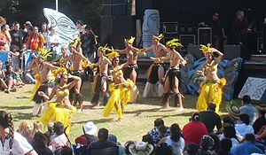 Culture of New Zealand - Cook Island dancers at Auckland's Pasifika Festival, 2010