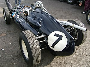 Cooper T51 - A T51 in the Rob Walker Racing Team's colours, as driven by Stirling Moss. (The roll hoop has been retro-fitted.)
