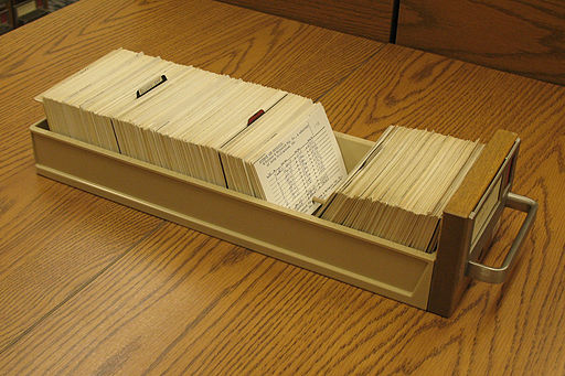 Copyright Card Catalog Drawer