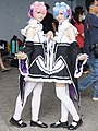 Cosplayers of Ram and Rem, Re-Zero at PF32 20200705a.jpg