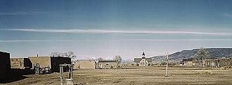 Taos County, New Mexico - The plaza of Costilla, 1943