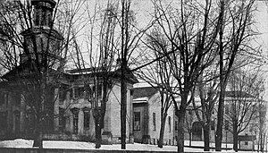 Shepherd University - Old college building and rear view of new building, 1918