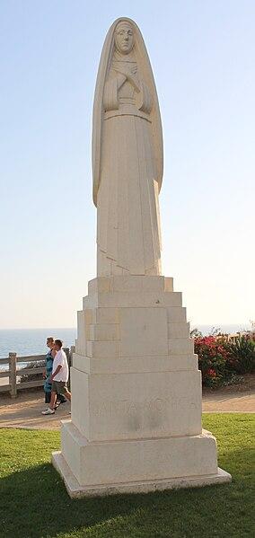 File:Cropped Statue of Saint Monica in Santa Monica California.jpg