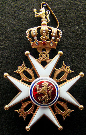 Order of St. Olav - Image: Cross Norwegian Order of St. Olav