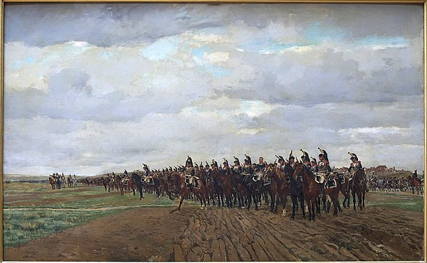 French cuirassiers taking position Cuirassiers 1805 Meissonier Chantilly.jpg