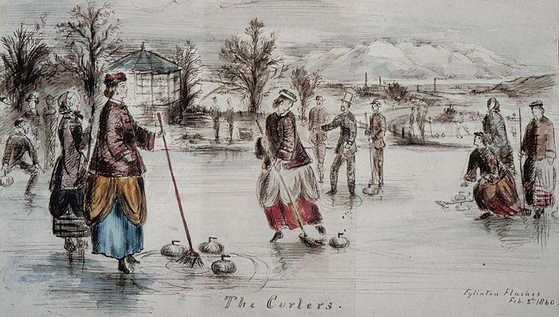File:Curling at Eglinton castle, Ayrshire, Scotland.jpg
