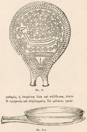 Frying pan (NAMA 4974) - Decorated reverse and view from above, 1899
