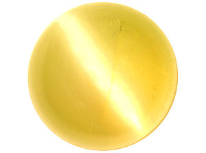 Chrysoberyl - Fine-color cymophane with a sharp and centered eye