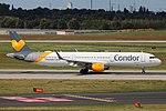 D-ATCB Airbus A321-200 Condor DUS 2018-09-01 (3a) (30947514858).jpg
