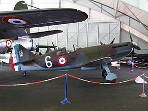 Dewoitine D.520 - Dewoitine D.520 on display at Le Bourget