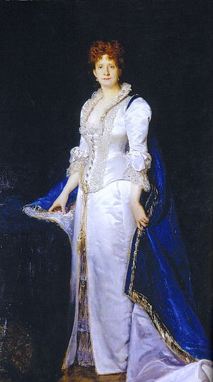 Maria Pia of Savoy - Portrait of the Queen by Carolus Duran , 1880