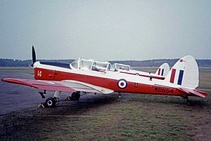 No. 10 Air Experience Flight RAF - No.10 AEF Chipmunk T.10 aircraft at RAF Woodvale in 1983
