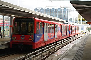 DLR Unit No. 93 Departs Stratford.jpg