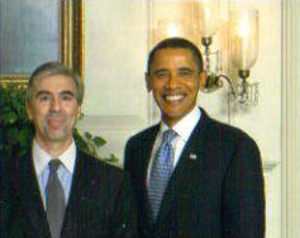 """Dalton Delan - Delan and President Barack Obama at the """"Red, White and Blues"""" concert at the White House on February 21, 2012"""