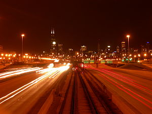English: Dan Ryan Expressway at 33rd Street lo...