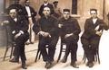 Daniel Anguiano, Francisco Largo Caballero, Julián Besteiro y Andrés Saborit (1917) en el Penal de Cartagena.png