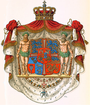 Coat of arms of Denmark. Version used from 181...
