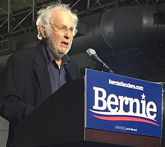 Danny Lyon - Lyon at a Bernie Sanders presidential rally at Navy Pier, Chicago in March 2019