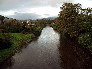 River Dargle River in Co. Wicklow. Ireland.