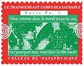 Dario Fo Timbre du Collège de 'Pataphysique.jpg