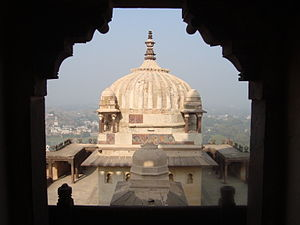 Datia State - View of Datia Palace.