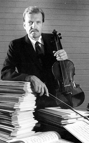 David Dalton (violist) - David Dalton with viola and scores in the Primrose International Viola Archive