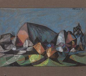 David McClure (artist) - Image: David Mc Clure Cubist Mining Landscape I. 1947