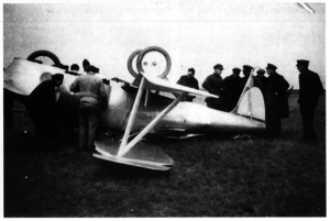 De Bruyère C 1 - Crash of the C 1 prototype with rotary-tip aileron detail.