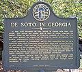 De Soto In Georgia Sign, Floyd County, Georgia.jpg