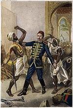 ציור דמיוני המתאר את מותו של צ'ארלס גורדון בחרטום