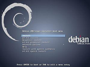 Debian - Debian 7 installation menu