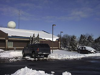 December 21–24, 2004 North American winter storm - The scene at the National Weather Service Office in Indianapolis on the morning of December 23, 2004