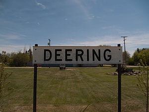 Deering, North Dakota - Sign in Deering