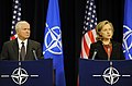Defense.gov News Photo 101014-F-6655M-012 - Secretary of Defense Robert M. Gates and Secretary of State Hillary Clinton hold a press conference at NATO headquarters in Brussels Belgium on.jpg